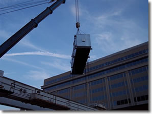 Rigging of Economizer at Central Heating Plant, Washington, DC